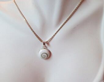 Shiva eye pendant set in 92.5 sterling silver, free shipping
