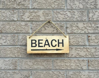 Outdoor Beach Sign - Reclaimed Wood - Cottage Sign