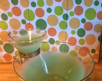 Retro Blendo Glass Bowl Chip and Dip set