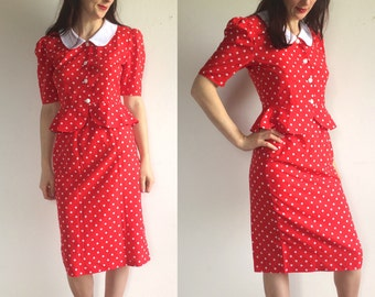French 3 Suisses Cute and Funny Spotty Skirt suit