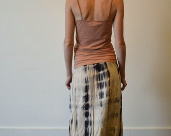 Long, Tie-Dye Convertible Skirt Dress