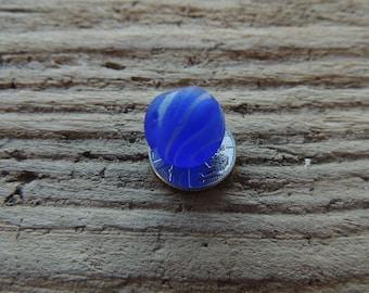 Cornflower blue and white swirls Seaham seaglass marble.