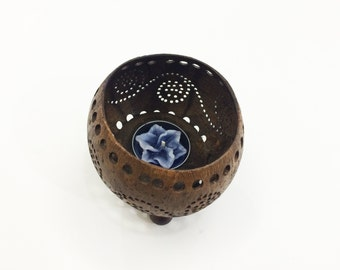 Handmade Coconut Shell Candle Holders Handcraft Thailand