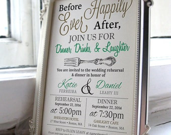 5x7 Personalized Wedding Rehearsal Dinner Invitations