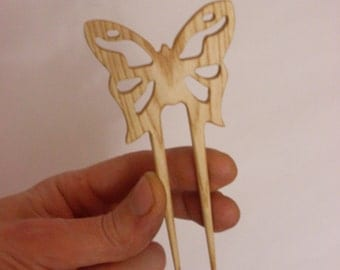 Hair fork butterfly, natural hair accessory
