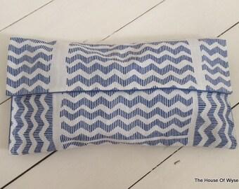 SALE - Fold Over Aztec Print Clutch Bag