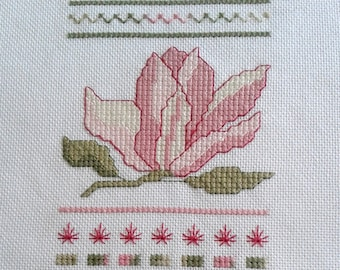 Magnolia Sampler with DMC Coloris Floss designed by Cherry Parker