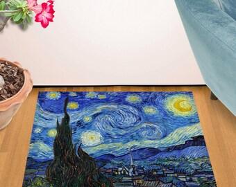 """Van Gogh - Starry Night Design Door Mat (24"""" x 36"""")"""