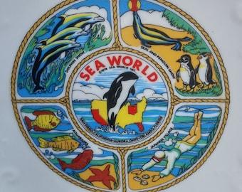 "Vintage Sea World 8 3/8"" Souvenir Plate -Made in Japan"