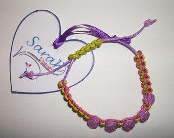 Shamballa Bracelet green and pink