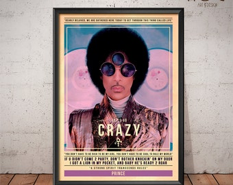 Prince Poster - Quote Retro Music Poster - Music Print, Wall Art