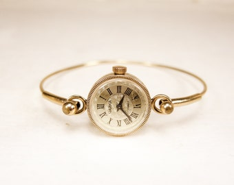 Women's Gold Watch Chaika  - Rare Small Women's Wrist Watch - USSR Watch Bracelet - Gold plated AU