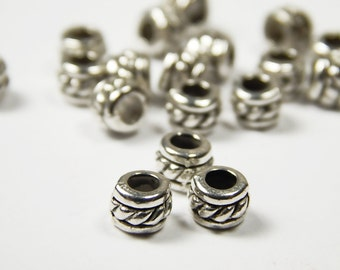 50 Pcs - 4x5mm Metal Spacer Beads - Tibetan Silver - Spacer Beads - Jewelry Supplies