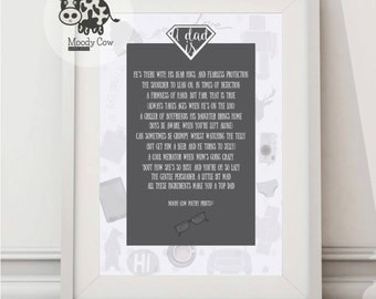 Dad Print   Dad Gifts   Dad Birthday Gift   Dads Shed   Dad Birthday   Father of the Bride   Fathers Day Print    Dad Presents