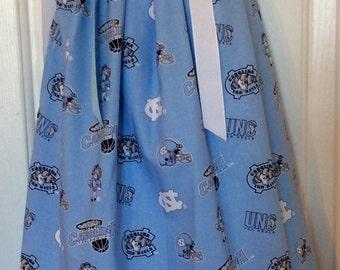 UNC Tarheels Pillowcase Dress Size 4T