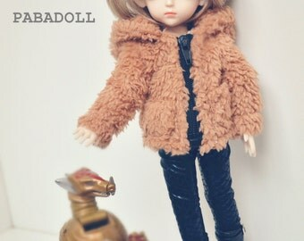 BJD Brown Bear Coat for 1/6 1/4 MSD,1/3 SD Doll Clothes