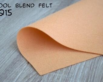 Wool Blend Felt Peach