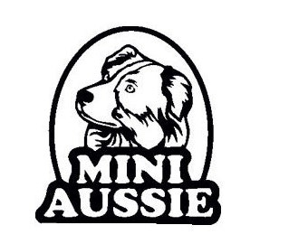 Mini Aussie Austrailian Shepherd Vinyl Sticker Decal, Any Color or Size
