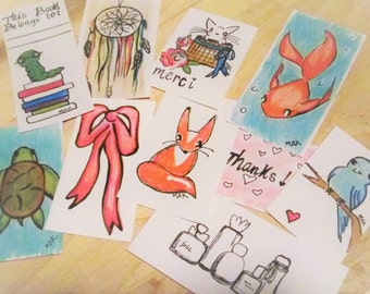 Cute Large Artist Sketched Party Planner Stickers