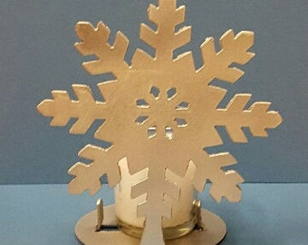 Snowflake tea light