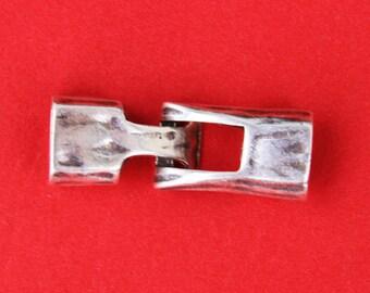 MADE IN EUROPE zamak clasp, licorice clasp, hammered clasp, zamak toggle clasp, (6522) Qty1
