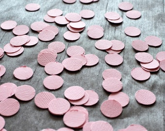 "Paper Confetti, 200pc 3/4"" Pink Confetti, circle confetti, birthday party decor, wedding decor, table decor, Party decor"