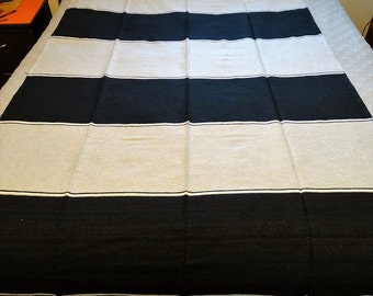 Black & Silver color Mexican Serape Blanket