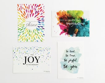 Gift For Mom - Budget Mothers Day Gift - Postcard Set - Inspirational Quote Postcards - Gift For Her - Set of Postcards - Affirmation Cards