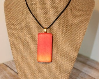 Sunset Altered Domino Pendant