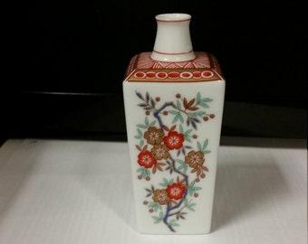 Vintage Koransha Porcelain Miniature Vase With Gold. C 1982. Made in Japan.