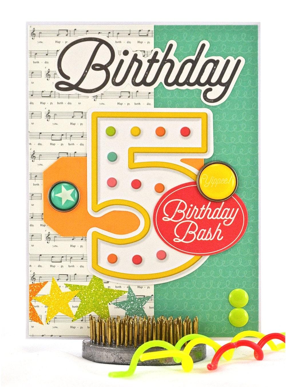 5 Year Old Birthday Card Gangcraft