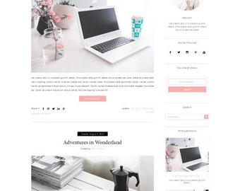 Responsive Premade Blogger Template - Minimalist Design - Simple Blog - Fashion - Theme Blogspot