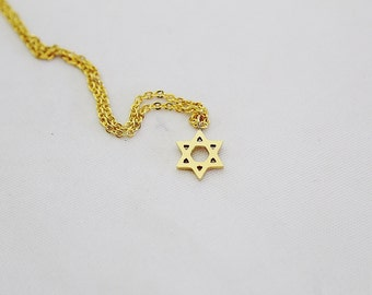 Star of David Pendant Necklace Gold Necklace  Star Necklace Personalized Jewelry Christmas Necklace  Christmas Jewelry Holiday Jewelry