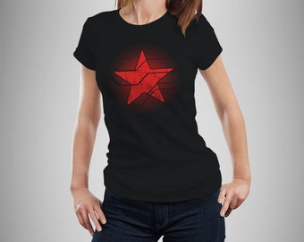 Captain America Inspired Winter Soldier Star Women's T-Shirt