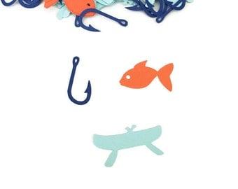 Fishing Birthday Decorations - Fishing Confetti - Fishing Party Decorations - Fishing Theme Party - Fishing Decor - Fishing Theme Party