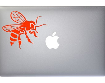 Buzzing Honey Bee Insect Bug Bumble Bee - Vinyl Decal for Macbook, Laptop, Wall, Window