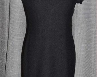 Ann Taylor Black Sheath Dress Size 0, Vintage Black Dress, Vintage Ann Taylor, Short Black Dress, Black Ann Taylor, Black Wool Dress