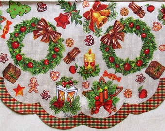 Round decoupage paper Christmas and New Year Decoupage paper napkins Christmas wreath