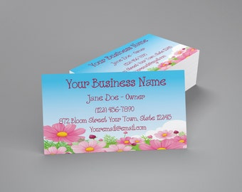 Printable Business Cards Floral