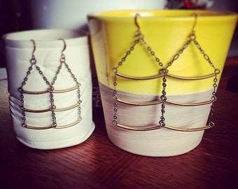 Brass Ladder Earrings Small / Large (Large only currently available)