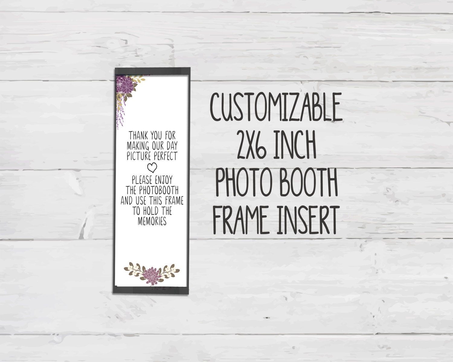 photo booth frame inserts template - blank purple photo booth place card insert printable