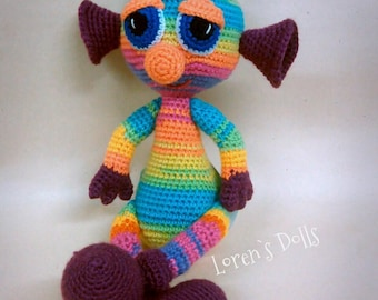 Alien Crochet Toy Rainbow