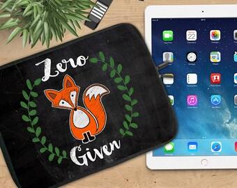 Zero Fox Given Ipad Sleeve, Funny Fox Neoprene Tablet Sleeve, Soft Ipad Sleeve, Ipad 2/3/4, Ipad Air Sleeve, Tablet Travel Case