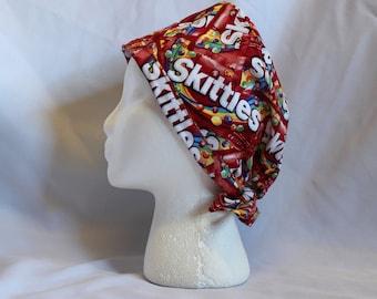 Skittles Surgical Scrub Cap Dentist Vet Chemo Hat