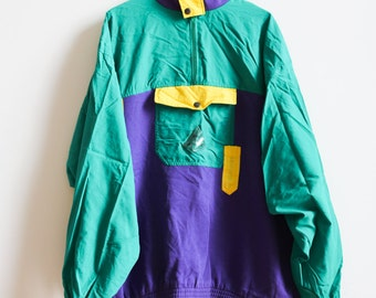 """Fun & Cool Color Block Jacket """"Free and different"""" size XL"""