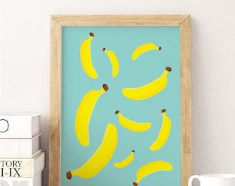 Banana poster | Etsy