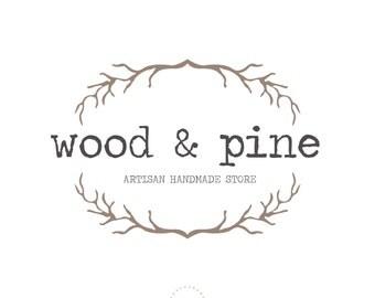 Premade Logo Design, Business custom logo, Rustic logo design, stamp watermark, greige logo