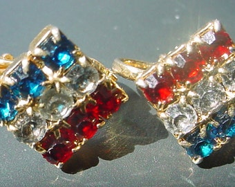 Red White and Blue Patriotic Earrings