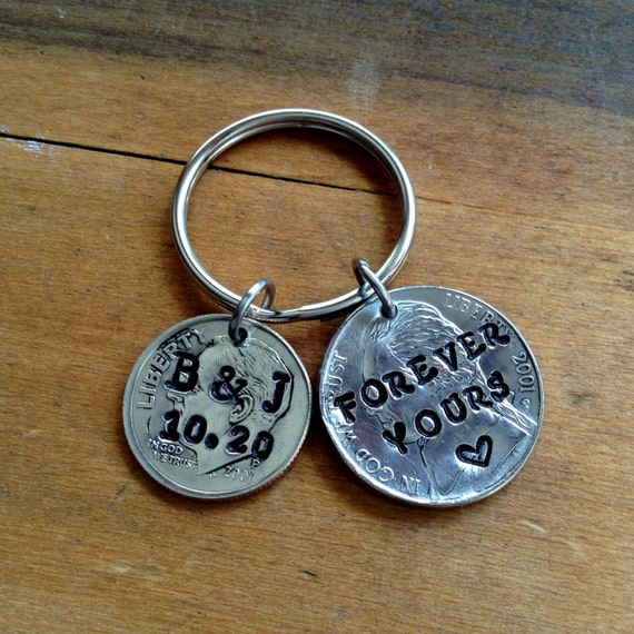 15 Year Wedding Anniversary Gifts: Items Similar To 15 Year Anniversary Keychain 2002 / 15th