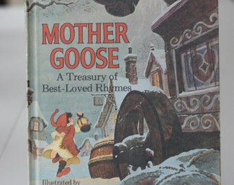 Mother Goose A Treasury of Best-Loved Rhymes 1972  Illustrated by Tim and Greg Hildebrandt